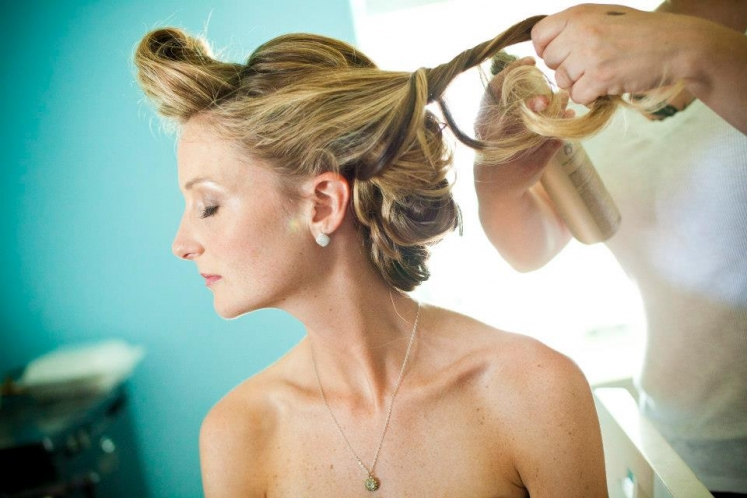 Wedding hair & makeup @ Congress Hall- Cape May, NJ