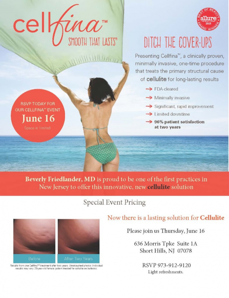 Dr. Beverly Friedlander Cellfina Event